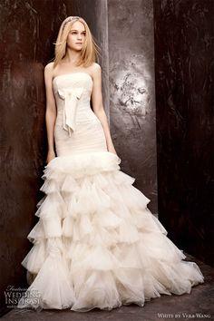 White by Vera Wang Fall 2012 Wedding Dresses