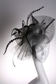 Make: Couture by Beth Hirst [About this Milliner]    Product: Black and White Large Crin Fascinator    Product type: Fascinators / Events Fascinators / Wedding Headpieces    Age: New    Price: £206.99 + P [change currency]