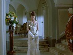 Anna Karenina 1997.cream and  white dress.front view.
