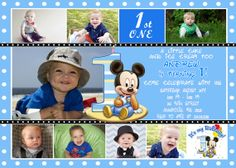 Mickey Mouse First Birthday Party Invitation  by FunPartyPrintable, $17.98