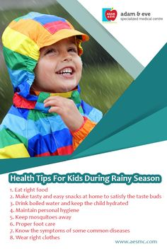 #Kids need extra #care during this #season to stay #healthy. Following #tips will help your #children stay healthy during #rainyseason. ADAM & EVE Specialized Medical Centre PO Box : 32866, Near Royal Rose Hotel Pink Building (501) Floor 01 Electra Street,Abu Dhabi,UAE Contact Us : +971 2 676 7366 / +971 52 1555 366 / 055 1555 366 Email : info@aesmc.com visit us - www.aesmc.com