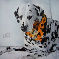 Animal paintings, dog art, and pet portraits. Artist Anne Zoutsos creates beautiful paintings of your dog, cat or horse in oils. I Love Dogs, Puppy Love, Dalmatian Dogs, Daily Painters, Artist Gallery, Animal Paintings, Dog Art, Beautiful Paintings, Pet Portraits