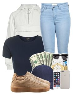 """""""9:40pm"""" by ashcake-wilson ❤ liked on Polyvore featuring Alexander Wang, Topshop, Pieces and Puma"""