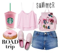 """summer roadtrip"" by j-n-a ❤ liked on Polyvore featuring MANGO, Topshop, Keds and roadtrip"