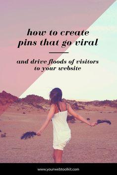 7 Tips For Creating Viral Pins That Bring You Website Traffic Online Marketing, Social Media Marketing, Marketing Strategies, Content Marketing, Digital Marketing, Marketing Tools, Pinterest Board Names, Pinterest For Business, Online Entrepreneur
