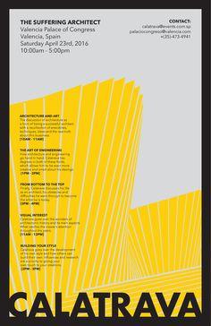 Alejandro Alvarez - architectural poster - Calatrava The Suffering Architect (2)