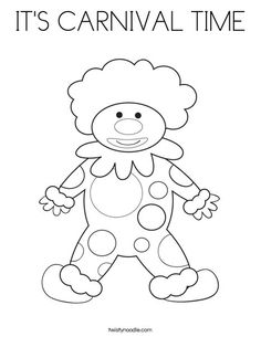 Happy Clown coloring page that you can customize and print for kids.