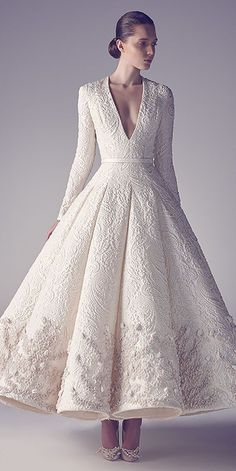 24 Winter Wedding Dresses & Outfits ❤ See more: http://www.weddingforward.com/winter-wedding-dresses-outfits/ #weddings #dresses