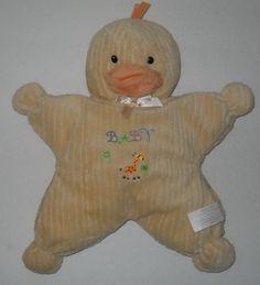 "Kids Preferred Star Baby Duck Yellow Plush Stuffed Animal 11"" Lovey Chick #KidsPreferred"