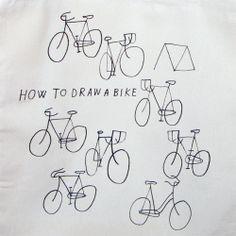 Handlettering/Doodeling: Draw a Bike Belle Drawing, Teaching Art, Teaching Ideas, Art N Craft, Fashion Painting, Art Inspo, Painting Styles, Sketches, Bike