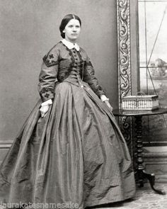 8 by 10 Repro 1860s Photo Print Woman in Trimmed Dress | eBay
