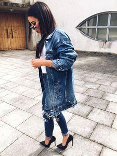 Really cool long denim jacket