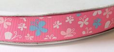 9mm PINK Butterfly Print Grosgrain Arts and Crafts Ribbons 3m length * You can find more details by visiting the image link.
