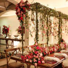 Jantar de noivado Civil Wedding, Wedding Day, Garden Wedding Decorations, Table Decorations, Enchanted Garden Wedding, Party Planning, Real Weddings, Wedding Cakes, Backdrops