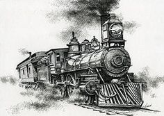 Pen And Ink Drawings - Spirit of Steam by James Williamson