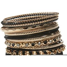 Ribbon & Rhinestones Bangle Set ($9.99) ❤ liked on Polyvore featuring jewelry, bracelets, accessories, pulseira, gold, bangle bracelet set, bracelets & bangles, rhinestone wrap bracelet, two tone bracelet and wrap bracelet