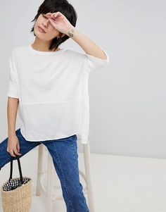 Paisie | Paisie Knitted Top with Silk Panel