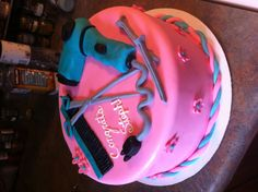 Cake for my friend that just graduated cosmetology school.