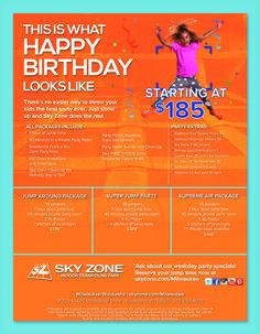 Sky Zone Memphis Birthday Parties MVParty Pinterest Memphis