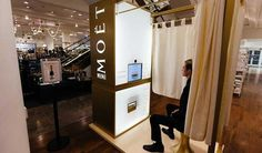 Selfridges launch a Moët & Chandon champagne photobooth for Christmas #photoboothhirelondon