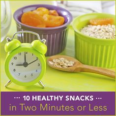 If you are trying to eat healthy you must be prepared. These 10 healthy snacks are delicious and can be made in 2 minutes or less. Snack on and stay fueled!