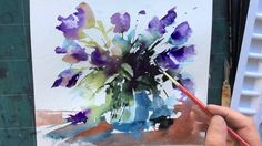 Loose Wet into Wet Watercolours with Andrew Geeson 'Purple Blast'