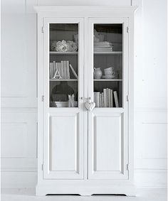 White Kitchen Dresser tall country cupboard/ kitchen dresser | country cupboard, kitchen