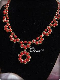 Beadtales beads Stories: Barbara Workshop--This shows how to make the necklace motif that the earrings were patterned after. (Part 2)