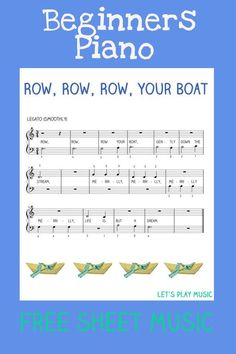Row, Row, Row Your Boat easy Piano For beginners: