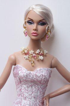 She's wearing a beautiful dress by Paintbox designs, jewelry by me. www.etsy.com/shop/IsabelleParisJewels
