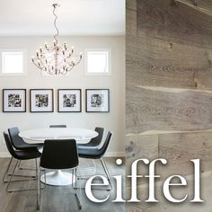 """Pravada Floors brings you the """"Artistique"""" Collection, in the colour Eiffel. A stunning European white oak - extra wide 9.5"""" planks, with beautiful wire brush textures. A collection designed to elevate the ambience of your interior space."""