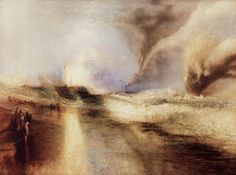Turner, Joseph Mallord William: Leuchtraketen bei hohem Seegang (Rockets and Blue Lights (close at Hand) to warn Steam-Boats of Shoal-Water)