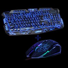 M200 Purple/Blue/Red LED Breathing Backlight Pro Gaming Keyboard Mouse Combos USB Wired Full Key Professional Mouse Keyboard //Price: $45.60 & FREE Shipping //  #gamergirl #gaming #video #game #winning
