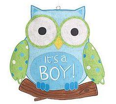 Its a Boy owl door sign!