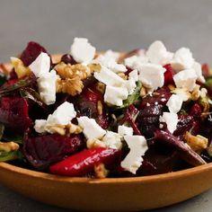 Hearty Roasted Veggie Salad Recipe by Tasty - Salad Recipes Vegetable Recipes, Vegetarian Recipes, Cooking Recipes, Healthy Recipes, Vegan Vegetarian, Cooking Tv, Cajun Cooking, Veggie Food, Food Food