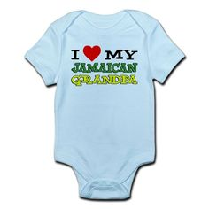 I Love My Jamaican Grandpa cute baby and toddler shirt. A great shirt for a child with a Jamaican Grandfather. Great Jamaican themed child gift.