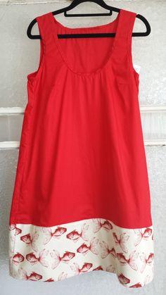 Ladies+Red+Fish+Dress+size+12