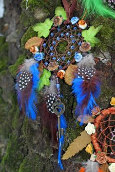 Mystic Winter Secret Garden Key Flower Dreamcatcher by DreamOfABird on Etsy