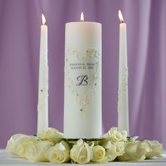 I like the flowers around the bottom of the unity candles