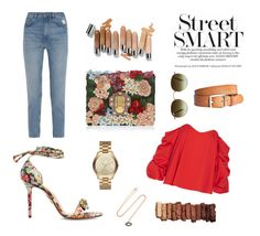 """The street is my catwalk"" by inescdelgado ❤ liked on Polyvore featuring M.i.h Jeans, Charlotte Olympia, Dolce&Gabbana, rag & bone, Caroline Constas, BROOKE GREGSON, Michael Kors, Olsen, Urban Decay and Ray-Ban"