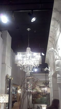 LOVED this shaded chandelier from Luna Bella! Beautiful!