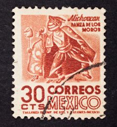 Royalty-free Image: Close up postage stamp mexico