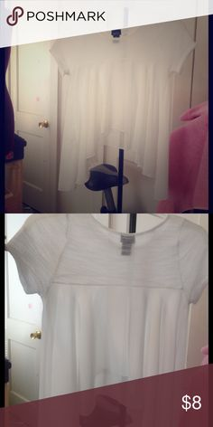 See through top, only been worn once White see through top Rue 21 Tops Blouses