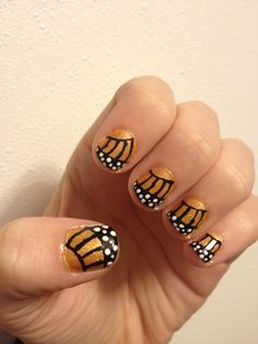 Butterfly Wing Nail Design!