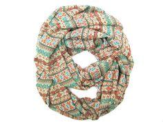 Aztec Fashion Infinity Scarf Women Circle Scarf by PoePoePurses #scarves #aztec