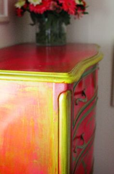 Awesome painted dresser.. I have the same one!! Hmmm wonder if I can do that!!