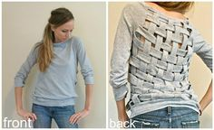 refashioned clothes photos | Basket Weaving Old T-shirts at Trash to Couture