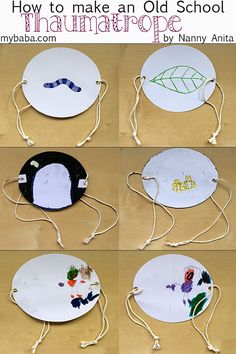 Make your own Thaumatrope. A Century toy that works on the persistence of vision, the same principle that animated films work on. Paper Crafts For Kids, Crafts To Do, Arts And Crafts, Kid Crafts, Middle School Art, Art School, Stem Activities, Activities For Kids, Pioneer Games