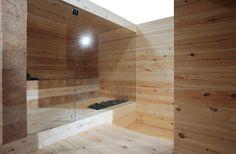 Frameless glass wall & door @ Sauna
