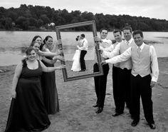 Framed, Wedding Pose, Beach, Photography, Wedding Photo Ideas